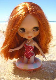 Olga on the beach