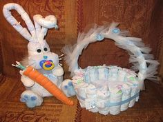 DIAPER BUNNY AND BASKET