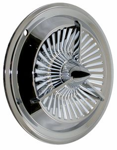 "The ""Jet"" Hub Cap is one of our latest offerings...based on the '61 Polara Cap, the ""Jet"" is a show quality piece that looks good on any Kustom Car.  Night Prowlers Kustom Car Parts 855-776-9537"