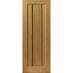 A top quality Jbk river oak Eden style 3 panel door just a little bit different from the rest.