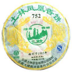 Yunnan Puer Tea 2007 Year Tulin Special Phoenix 752 Raw Tea Cake 357g Pu Erh Tea, Tea Culture, Oolong Tea, Chinese Tea, Tea Cakes, My Tea, Phoenix, Tableware, October