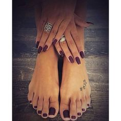 Manicure and pedicure 2016. Love this color.