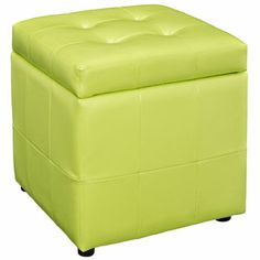 Cute pop of color storage ottoman for the living room.