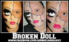 Broken Doll - Halloween Makeup