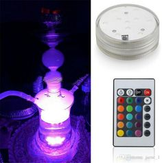 People who are looking for hookah shisha accessories battery operated led light with remote controlled 10 led multi colors submersible waterproof underwater light could have the best wholesale price at $2.82 per piece from online store jame_1 here.