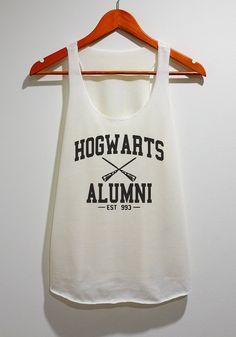 Hogwarts Alumni Tank Top Tunic TShirt Singlet Vest by WareWhite, $12.99