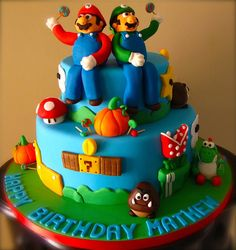 Birthday Cake for Steven and/or Danielle ... Super Mario Bros