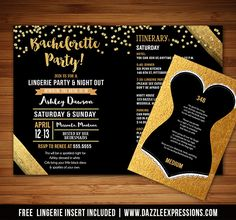 bachelorette weekend invite with itinerary last fling before the