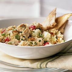 Chicken and Couscous Salad | CookingLight.com #myplate #protein #vegetables