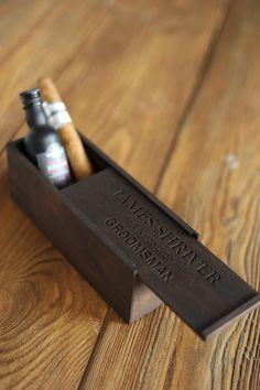 Groomsmen gift box Groomsmen cigar gift box Groomsmen | Etsy Groomsmen Gift Box, Groomsmen Proposal, Groom And Groomsmen, Groomsman Gifts, Bourbon, Father Of Groom Gift, Microsoft, Cigar Gifts, Mini Bottles