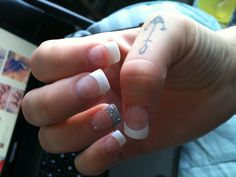 possible wedding nails except royal blue instead of silver