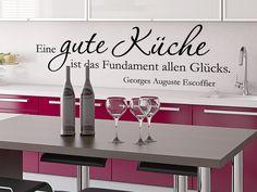 Gute Küche Wandtattoo Zitat als genußvolle Küchenwand Dekoration