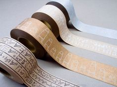『 エジプシャン クラフトテープ 』 ・・・ クラフト素材・ヒエログリフ・エジプシャン・活版(黒白金銀)の組み合わせで見せるテープ