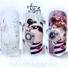 Nails Art Paso A Paso Unicornio 48 Trendy Ideas Animal Nail Art, 3d Fantasy, Girls Nails, Disney Nails, Hot Nails, Beautiful Nail Designs, Creative Nails, Nail Tutorials, Cool Nail Art
