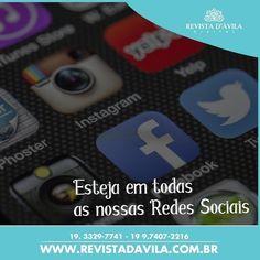 Tenha sua marca compartilhada em todas as nossas Redes Sociais o seu futuro cliente está entre nossos fãs e leitores! . http://ift.tt/1UOAUiP . Entre em contato consco e conheça nossos serviços e vantagens: (19) 3329-7741 / 9.7407-2216 ou contato@revistadavila.com.br