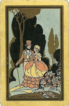 vintage playing card sweethearts by Millie Motts, via Flickr