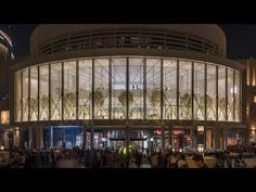 "(2) Foster + Partners completes Dubai Apple store with kinetic ""solar wings"" facade - YouTube"