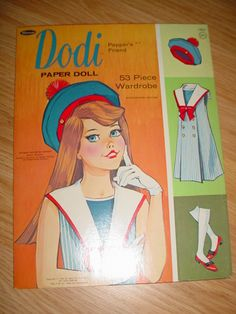 These came with little plastic scissors to cut the dolls and clothes out. Vtg Toy Paper Dolls Ideal Dodi Pepper Friend Doll Cut Outs Book 1966 Barbie Paper Dolls, Vintage Paper Dolls, Dolls Dolls, 1970s Childhood, Childhood Memories, Tammy Doll, Malibu Barbie, Retro Toys, 1960s Toys