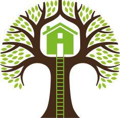 Tree house illustration vector art illustration