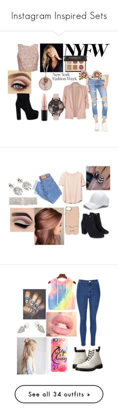 """""""Instagram Inspired Sets"""" by acole0116 ❤ liked on Polyvore featuring tarte, MAC Cosmetics, Luna Skye, rag & bone/JEAN, Les Néréides, River Island, Olivia Burton, Levi's, Gap and Monsoon"""