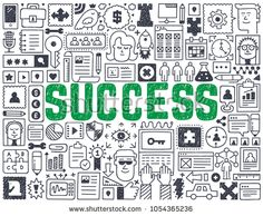 Success - Hand drawn vector illustration