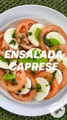 Easy Salad Recipes, Chicken Salad Recipes, Easy Healthy Recipes, Vegetable Recipes, Italian Appetizers, Vegetarian Appetizers, Vegetarian Recipes, Cooking Recipes, Healthy Snaks