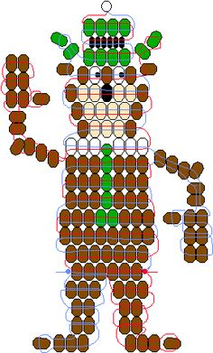 Yogi Bear pony bead pattern