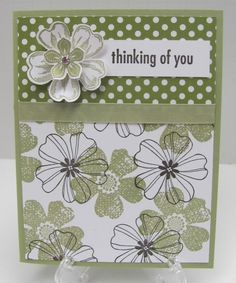 Stampin Up! THINKING OF YOU Card Kit, Pear Pizzazz Flower Shop - Set of 4 Cards in Card Making | eBay #DIY #Crafts