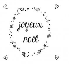 Template Joyeus Noël for the window decoration tuto by L'encre violette