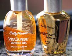 VitaSurge cuticle gel and Nailgrowth miracle Sally hansen