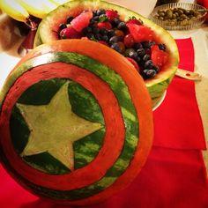 26 Ideas For Fruit Bowl Ideas Kids Watermelon Carving Watermelon Art, Watermelon Carving, Fruit Party, Fruit Snacks, Fruit Bowls, Fruit Tart Glaze, Captain America, Fruit Diet Plan, Dressing For Fruit Salad