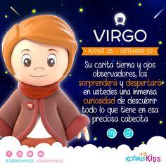 ¿Tienes algún pequeño o pequeña #virgo en la familia? Este es su mes, #360KosmoKids #AstrologíaInfantil  Su hijo Virgo es vivaz y activo, aunque más pacífico y tranquilo que un bebé Leo o Aries. Desde pequeño mostrará su gran tendencia a la limpieza y el orden.