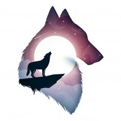 Wolf illustration What's Art ? Wolf Illustration, Wolf Wallpaper, Animal Wallpaper, Laptop Wallpaper, Cool Art Drawings, Cute Animal Drawings, Anime Wolf, Fantasy Wolf, Fantasy Art