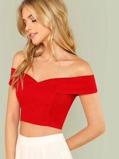 Fold Over Sweetheart Bardot Top – GaGodeal