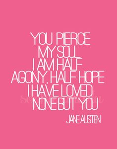 Persuasion Jane Austen quote PDF poster by sophieandlu on Etsy, $5.00