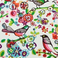 Alexander Henry bird fabric (coordinating floral and stripe)