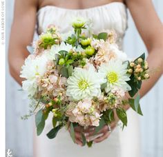Acceptable use of pink in a bouquet!