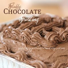 Fluffy Chocolate Frosting Recipe ~ so light and fluffy and delicious!