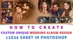 How To Create Custom Unique Wedding Album Design Sheet in Photoshop Hindi language video tutorial with complete detail, and also get psd project file.
