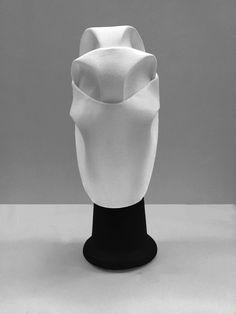 Maru Daris design. Head accessory. Mask. Design. Fashion. Ideas. Architecture. Curves. Volume. White. 2