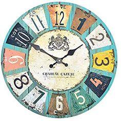 Shabby Chic Stil, Bunt, Decoupage, Nostalgia, Clock Faces, Clocks, Grande, Wall, Design