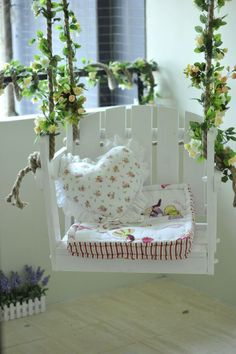 Pretty swing for your garden space
