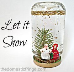 DIY Snow Globes - Keep your sick kids entertained this winter.  Grab a box of Kleenex and a glue gun and have some fun.  Your kids will love making these and you can gift them to teachers, grandparents, and even create a collection for the elderly at your local senior center. #PMedia #KleenexTarget
