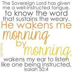 Isaiah 50:4 NIV - Google Search