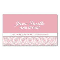 Elegant Damask Floral Pattern Cosmetologist Salon Double-Sided Standard Business Cards (Pack Of 100). I love this design! It is available for customization or ready to buy as is. All you need is to add your business info to this template then place the order. It will ship within 24 hours. Just click the image to make your own!