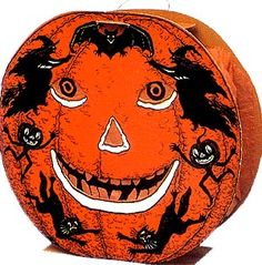 vintage decorations...love the images...especailly the running pumpkins