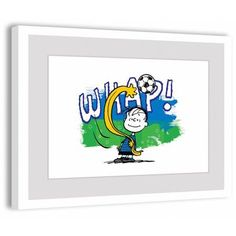 Marmont Hill Whap Peanuts Framed Art Print, Size: 18 inch x 12 inch, Multicolor