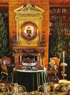 vintage christmas#orange#room