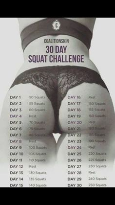 30 day squat challenge    Posted By: NewHowToLoseBellyFat.com
