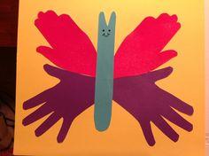 Hand Butterfly Craft » Dealin and Dishin